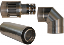 Коаксиальный дымоход для газовых каминов Karma NOBLESSE D130/200 1000 мм в Новосибирске